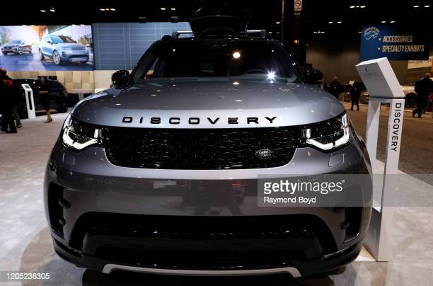 "Land Rover Discovery is on display at the 112th Annual Chicago Auto Show at McCormick Place in Chicago, Illinois on February 6, 2020. ""n"