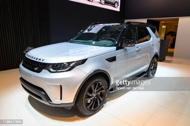 Land Rover DIscovery SDV6 luxury offroad SUV on display at Brussels Expo on January 9 2020 in Brussels Belgium The Discovery is available with petrol...