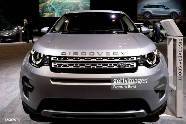 Land Rover Discovery Sport is on display at the 111th Annual Chicago Auto Show at McCormick Place in Chicago Illinois on February 8 2019