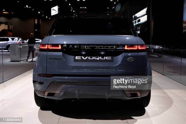 Land Rover Evoque is on display at the 111th Annual Chicago Auto Show at McCormick Place in Chicago Illinois on February 8 2019