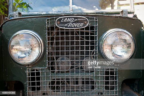land rover in mandalay, burma - land rover stock pictures, royalty-free photos & images