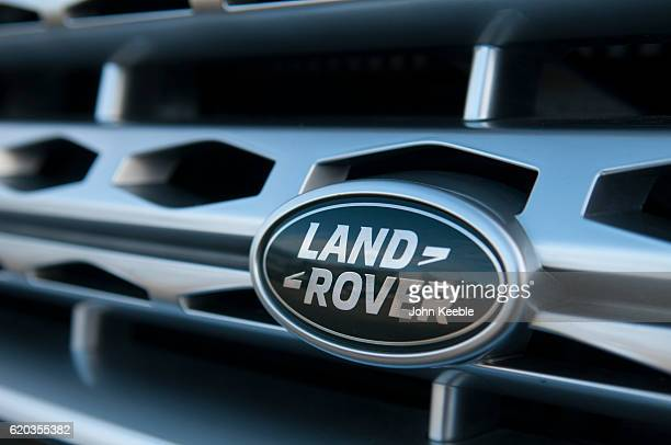 A Land Rover logo radiator badge on October 20 2016 in Southend United Kingdom