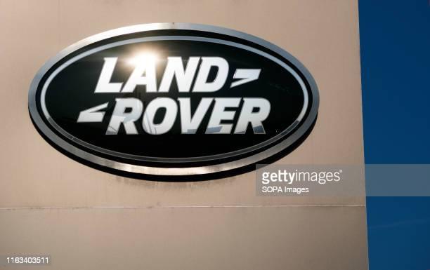 Land Rover logo seen in Kiev.