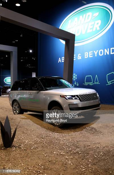 Land Rover Range Rover performs during the 'Land Rover Drive Experience' at the 111th Annual Chicago Auto Show at McCormick Place in Chicago,...