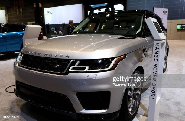 Land Rover Range Rover Sport is on display at the 110th Annual Chicago Auto Show at McCormick Place in Chicago Illinois on February 8 2018