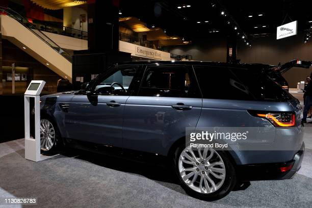 Land Rover Range Rover Sport is on display at the 111th Annual Chicago Auto Show at McCormick Place in Chicago, Illinois on February 8, 2019.