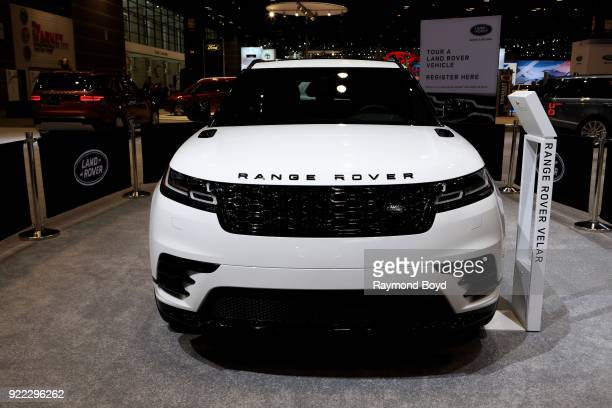 Land Rover Range Rover Velar is on display at the 110th Annual Chicago Auto Show at McCormick Place in Chicago Illinois on February 9 2018