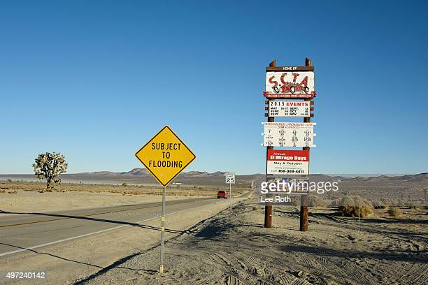Land speed racing atmosphere at El Mirage Lake on November 14 2015 in Adelanto California