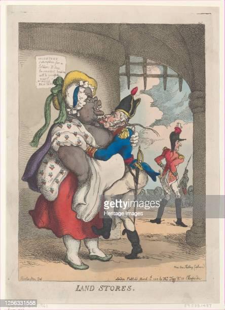 Land Stores March 10 1812 Artist Thomas Rowlandson
