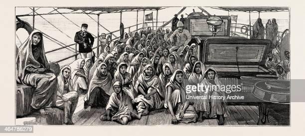 Landed At Demerara Guyana South America East Indian Immigrants Engraving 1884