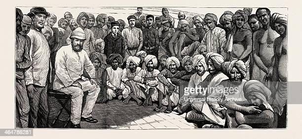 Landed At Demerara South America Guyana South America East Indian Immigrants Engraving 1884