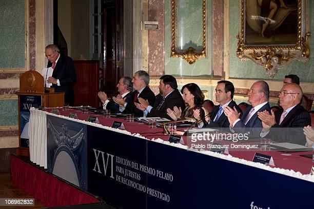 Landelino Lavila Alsina Candido Conde Pumpido Francisco Caamao Dominguez Maria Emilia Casas Baamonde Jose Bono King Juan Carlos of Spain and...