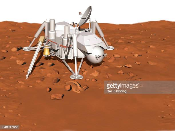 Lander Spacecraft designed to touch down on the surface of Mars so as to study it