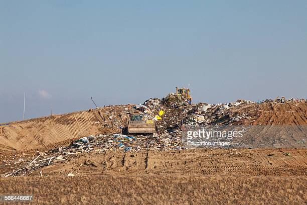 Landfill near Porterville, Tulare County, San Joaquin Valley, California.