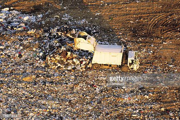 landfill - garbage truck stock pictures, royalty-free photos & images