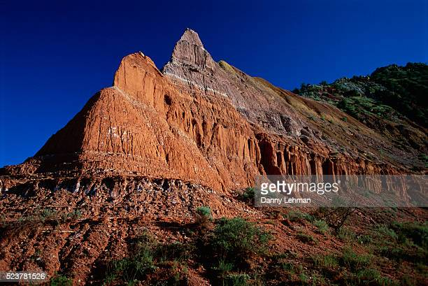 landform at palo duro canyon state park - texas stock pictures, royalty-free photos & images