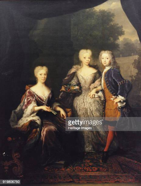 Landgravine Marie Louise of HesseKassel Princess of Orange with children Found in the collection of Nationalmuseum Stockholm