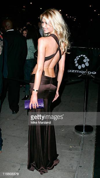 Landi during Gizmondo MultiMedia Handheld Launch Party Arrivals at Park Lane Hotel in London United Kingdom