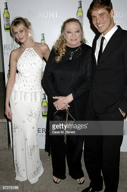 Landi Swanepoel Anita Ekberg and Ruben Quesada attend the launch party for Peroni Nastro Azzurro Italian beer to announce the launch of its GBP4...