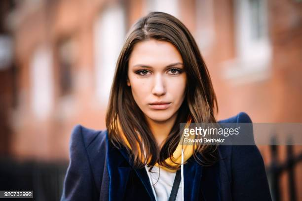 Landiana Cerciu during London Fashion Week February 2018 on February 17 2018 in London England