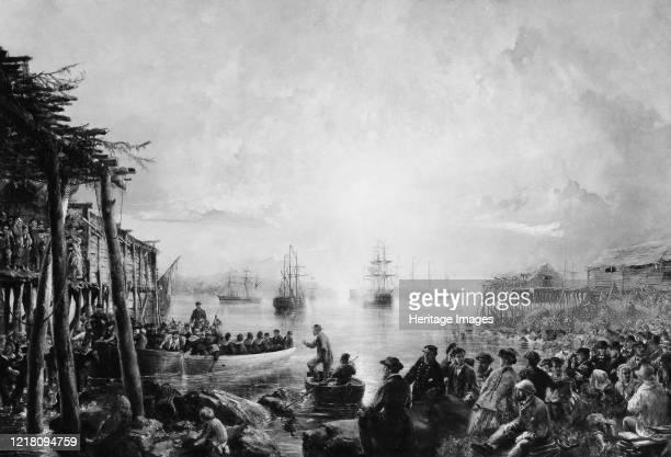 Landing at Newfoundland circa 1866 Artist Robert Charles Dudley