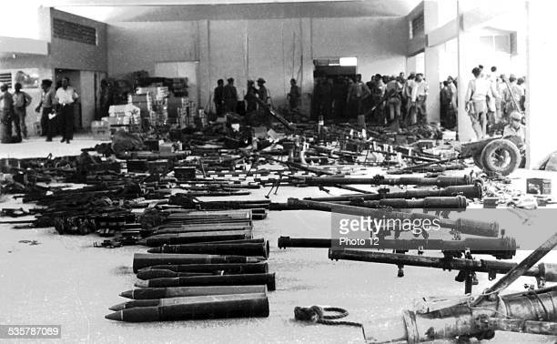 Landing at the Bay of Pigs Partial view of the weapons taken to antiCastroist mercenaries Cuba