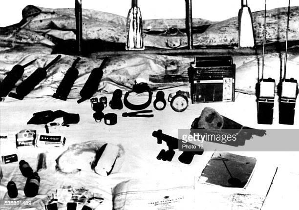 Landing at the Bay of Pigs Various items taken to American mercenaries Cuba