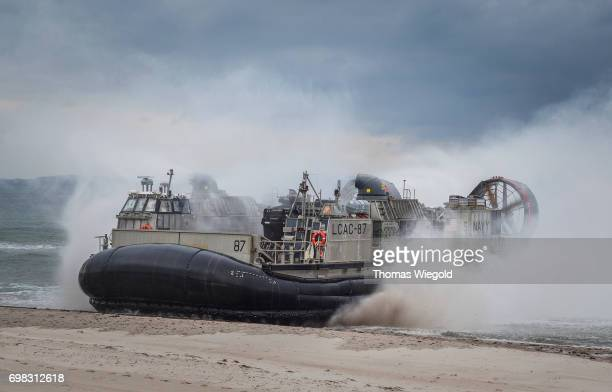 Landing Craft Air Cushion is pictured during an Amphibious Landing Exercise on June 08 2017 in Oldenburg Germany