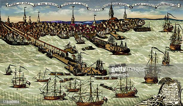 Landing of British troops at Boston harbour 1768 Engraving by Paul Revere The colonists in Boston took direct action against the British government...