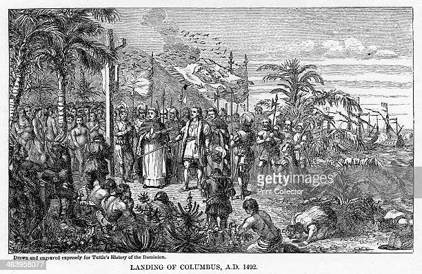 'Landing of Columbus AD 1492' Christopher Columbus arriving in America 12 May 1492 Sponsored by Ferdinand and Isabella of Spain Columbus set out to...