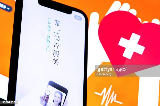 A landing page for the Ping An Good Doctor application operated by Ping An Healthcare Technology Co a unit of Ping An Insurance Group Co is displayed...