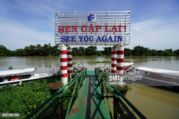 Landing pontoons on the Saigon River at Cu Chi The former Viet Cong guerrilla camp 75km north of Saigon known as 'Cu Chi' was largest underground...