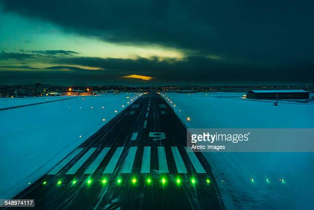 Landing strip in the wintertime