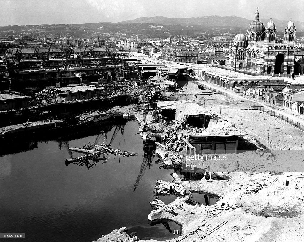 Landings in the South of France, Marseilles, 1944 : News Photo