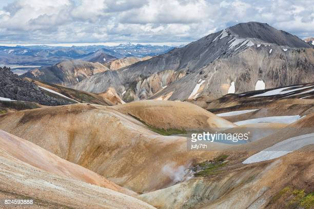 landmannalaugar adventure - hut stock pictures, royalty-free photos & images