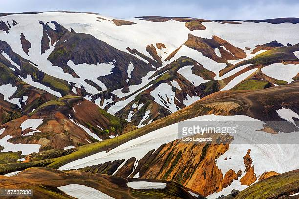 landmannalaugar in iceland - lagarde stock photos and pictures