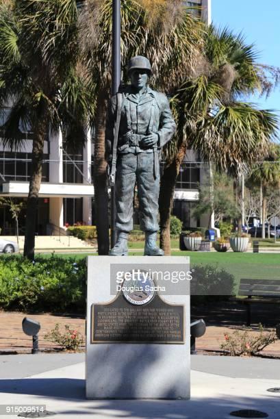 Landmark Battle of the Bulge Memorial, Lake Eola Park, Orlando, Florida, USA