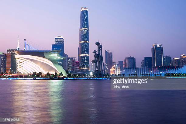 landmark in Guangzhou at night