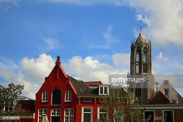 landmark of utrecht city, the dom tower - frans sellies stockfoto's en -beelden