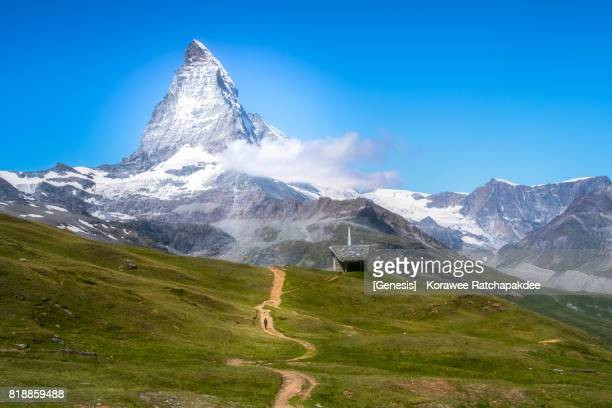 A landmark of Zermatt, Matterhorn in the sunny day