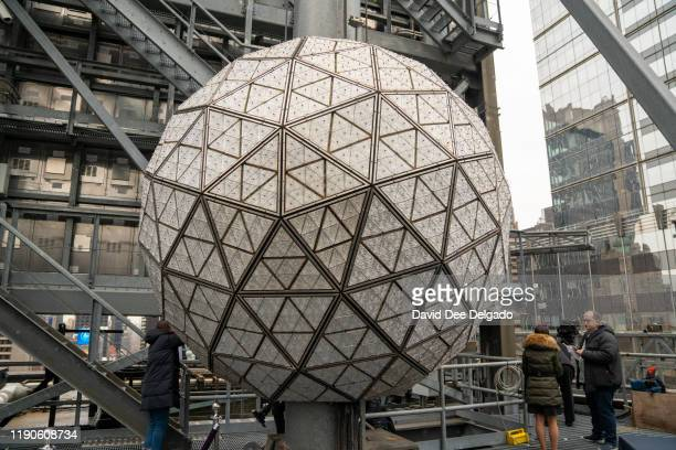 Landmark Signs plans to install 192 new Waterford Crystal triangles featuring this year's Gift of Goodwiil design on the Times Square Ball for New...