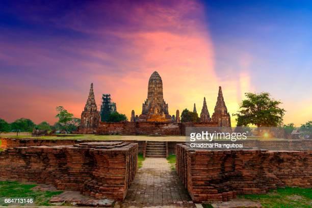 landmark wat thai - sukhothai stockfoto's en -beelden