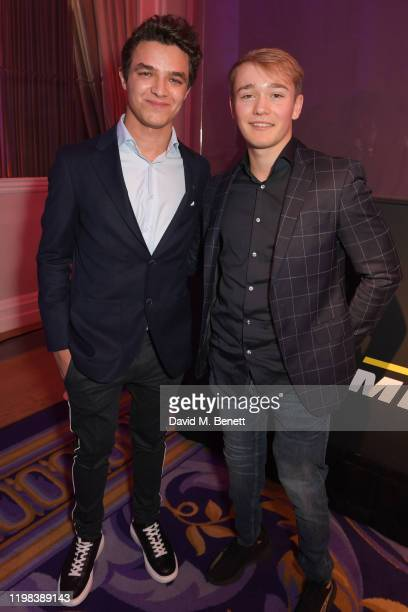 Lando Norris and Billy Monger attend the GQ Car Awards 2020 in assoociation with Michelin at the Corinthia Hotel London on February 3 2020 in London...