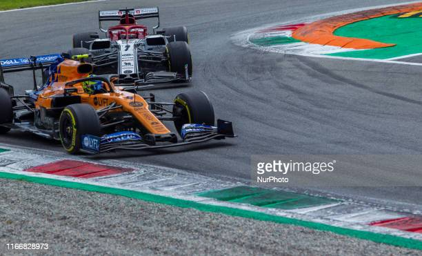 Lando Norris of Great Britain and McLaren F1 Team driver goes during the race at Formula 1 Gran Premio Heineken on Sept 08 2019 in Monza Italy