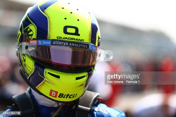 Lando Norris of Great Britain and McLaren prepares on the grid before the F1 Grand Prix of Italy at Autodromo di Monza on September 12, 2021 in...