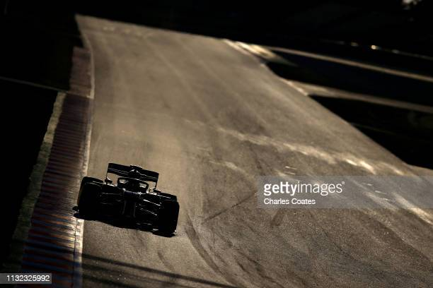 Lando Norris of Great Britain driving the McLaren F1 Team MCL34 Renault on track during day one of F1 Winter Testing at Circuit de Catalunya on...