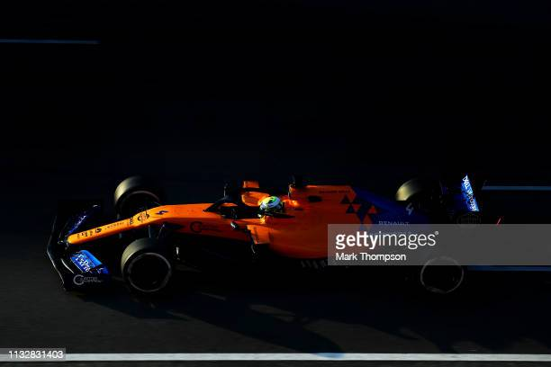 Lando Norris of Great Britain driving the McLaren F1 Team MCL34 Renault on track during day three of F1 Winter Testing at Circuit de Catalunya on...