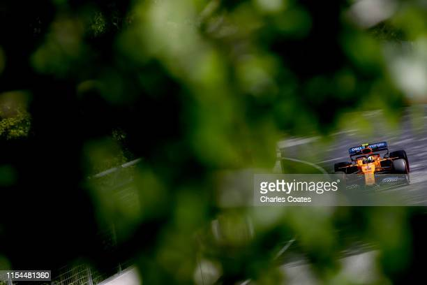 Lando Norris of Great Britain driving the McLaren F1 Team MCL34 Renault on track during practice for the F1 Grand Prix of Canada at Circuit Gilles...