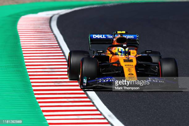 Lando Norris of Great Britain driving the McLaren F1 Team MCL34 Renault on track during qualifying for the F1 Grand Prix of Japan at Suzuka Circuit...