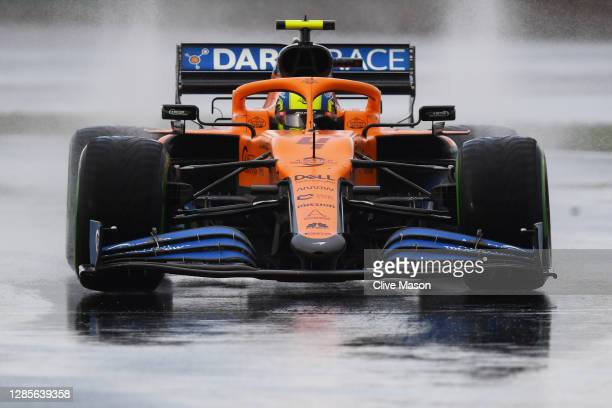 Lando Norris of Great Britain driving the McLaren F1 Team MCL35 Renault on track during qualifying ahead of the F1 Grand Prix of Turkey at Intercity...